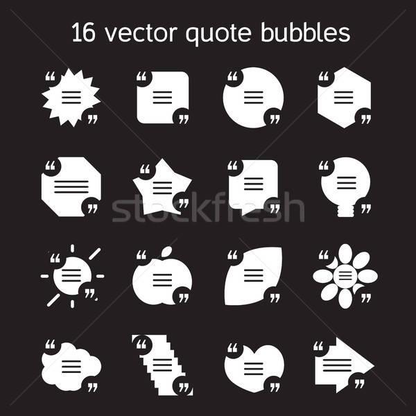 Square quote text bubbles set Stock photo © barsrsind