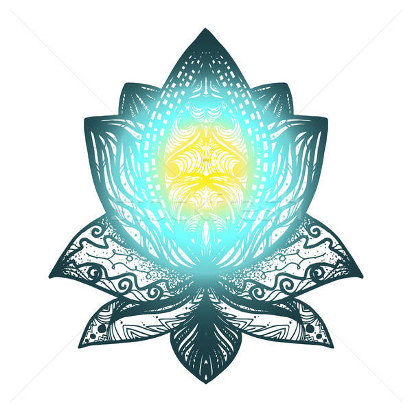 Stock photo: Flower Lotus Tattoo
