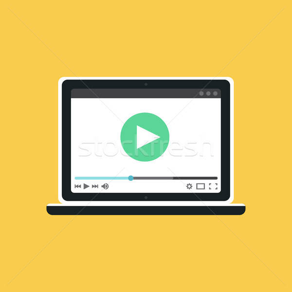 Web Template of Notebook Video Form Stock photo © barsrsind