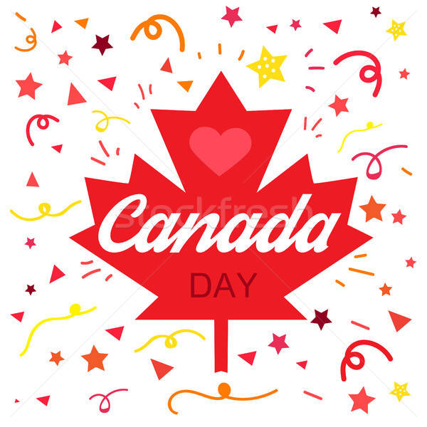 Stock photo: Happy Canada Day
