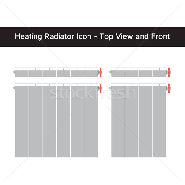 Vector icon of heating radiator Stock photo © barsrsind