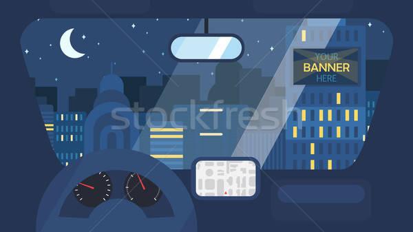 City Life From Car Stock photo © barsrsind