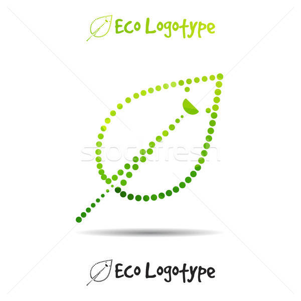 Vector ecology logo or icon, nature logotype with smile Stock photo © barsrsind