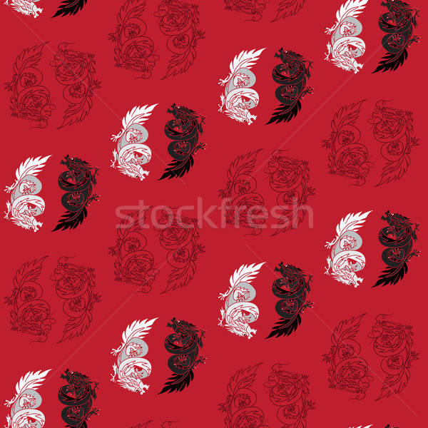 Stock photo: Chinese Dragon Oriental Feng Shui