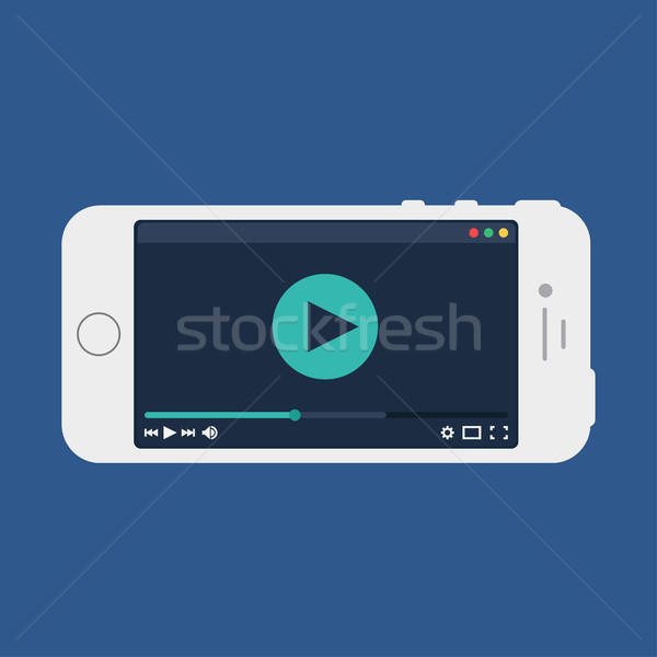 Web Template of Smartphone Video Form Stock photo © barsrsind