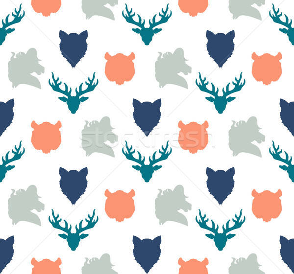 Wildlife seamless pattern Stock photo © barsrsind