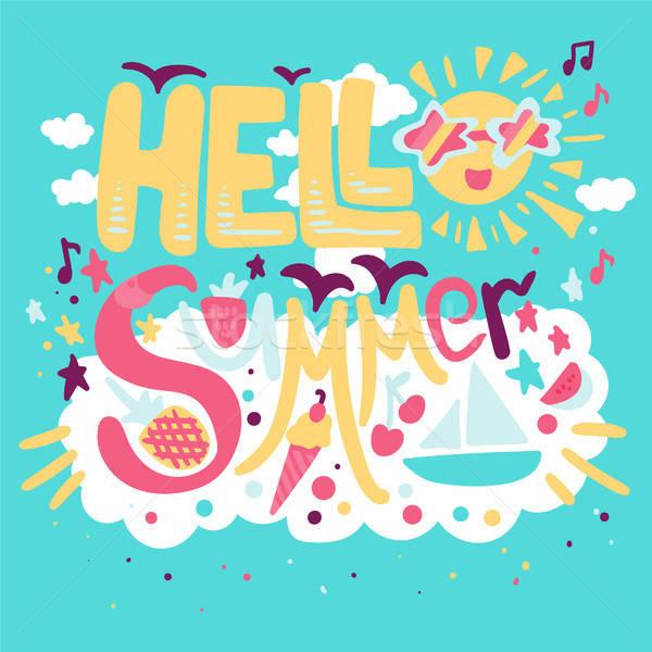 Holiday concept - Hello Summer  Stock photo © barsrsind