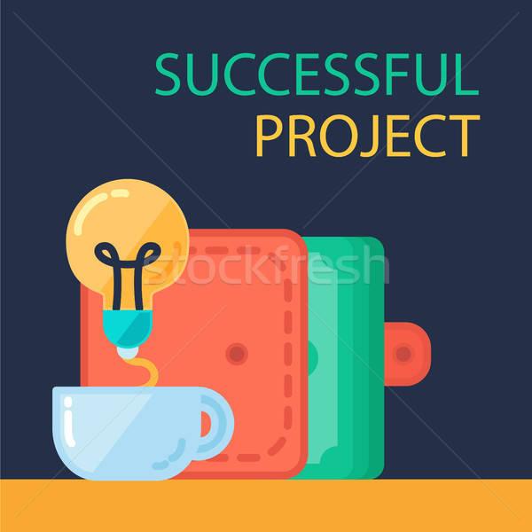 успешный проект баннер банка Сток-фото © barsrsind