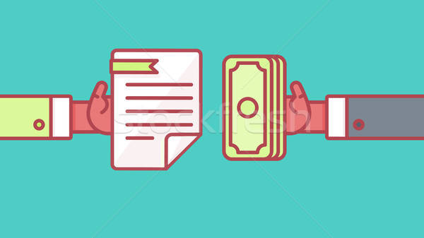 Betaling document symbool procede huren salaris Stockfoto © barsrsind