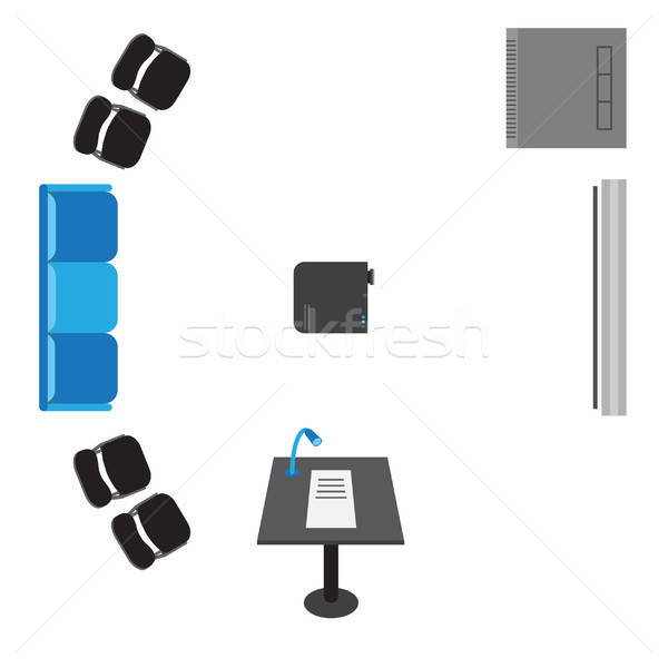 Vector set of icons for presentation Stock photo © barsrsind