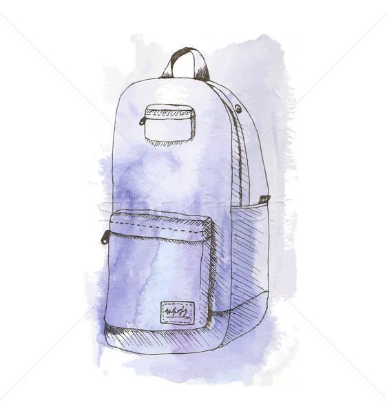 Aquarelle bag Stock photo © barsrsind