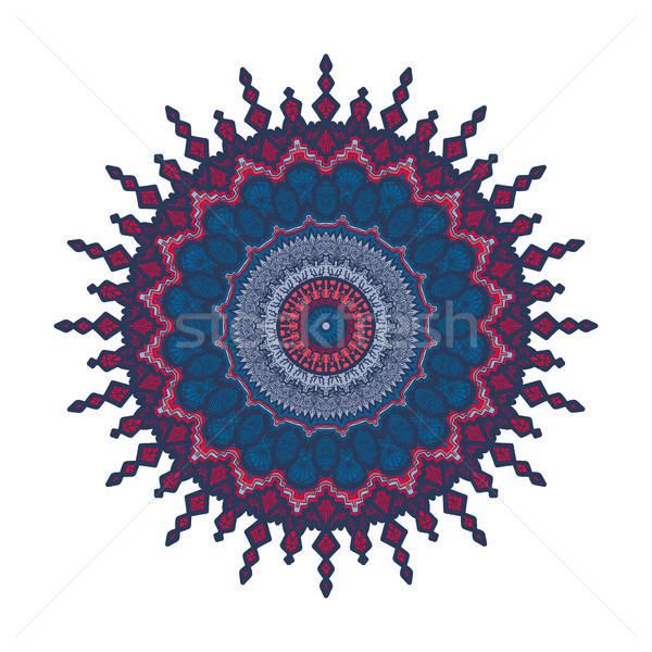 мандала линия шаблон рисованной арабский индийской Сток-фото © barsrsind