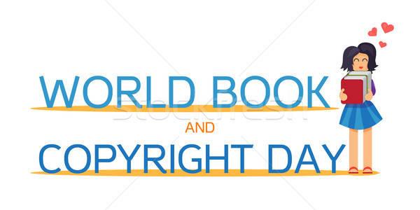 世界 図書 著作権 日 水平な バナー ストックフォト © barsrsind