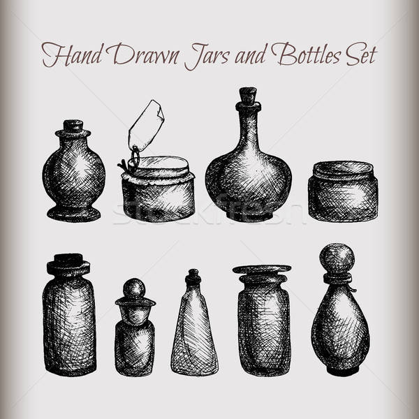 Vintage jars and bottles Stock photo © barsrsind