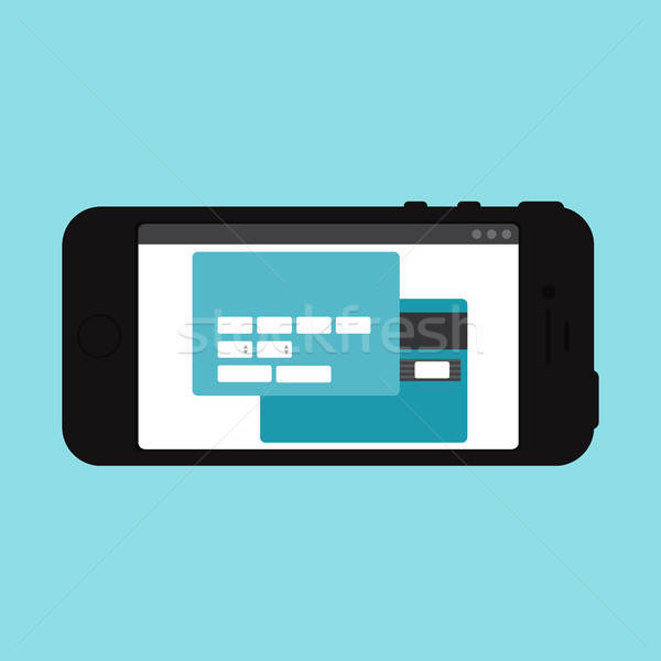 Web Template of Smartphone Online Shopping Form Stock photo © barsrsind