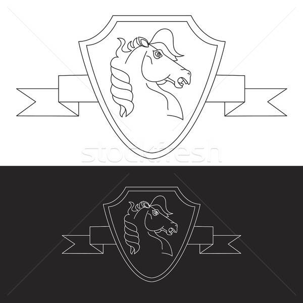 Horse symbol Stock photo © barsrsind
