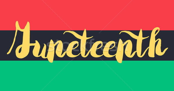 Juneteenth Banner With Flag Stock photo © barsrsind