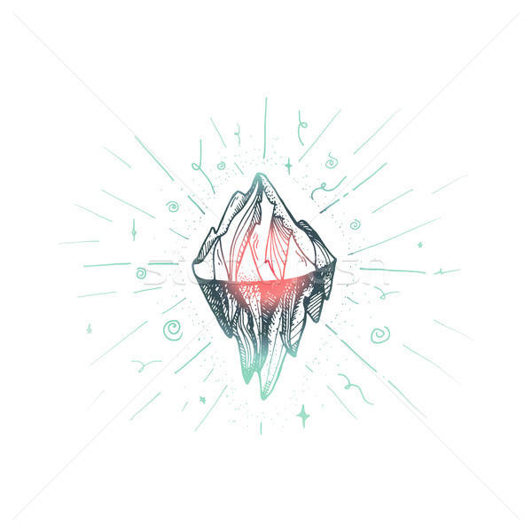 Mountain  iceberg peak Stock photo © barsrsind