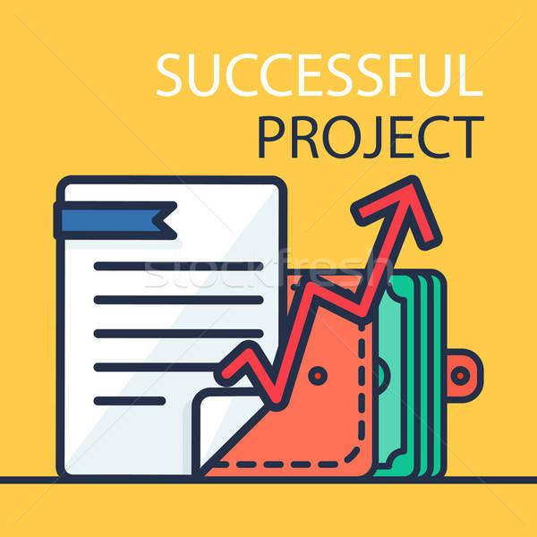 Successful Project Banner Stock photo © barsrsind
