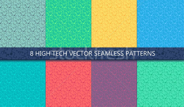 Computer Processor Chip Seamless Pattern Stock photo © barsrsind
