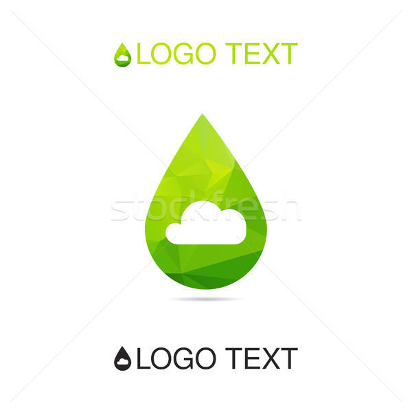 ökológia levegő szimbólum logo lélegzet ikon Stock fotó © barsrsind