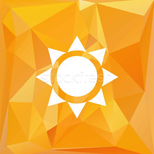Vector triángulo sol naturaleza símbolo caliente Foto stock © barsrsind
