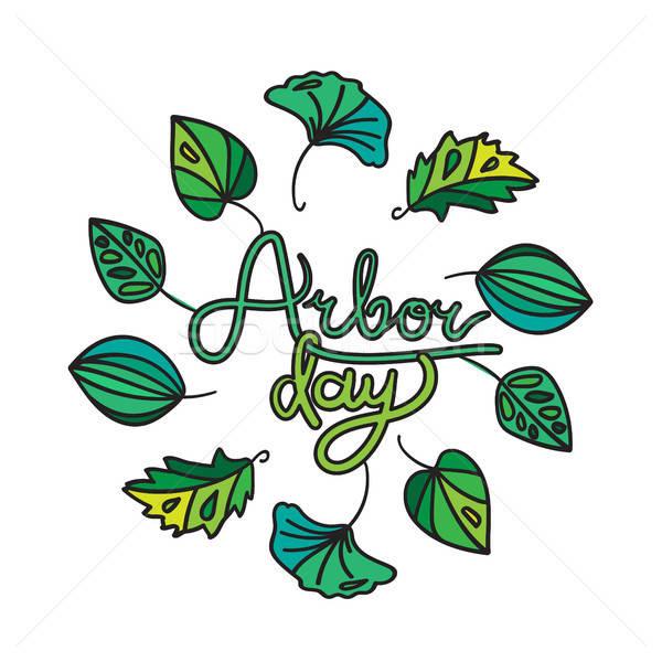 Arbor Day Greeting Stock photo © barsrsind