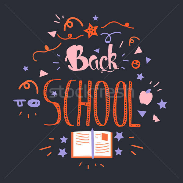 Back To School Lettering Stock photo © barsrsind