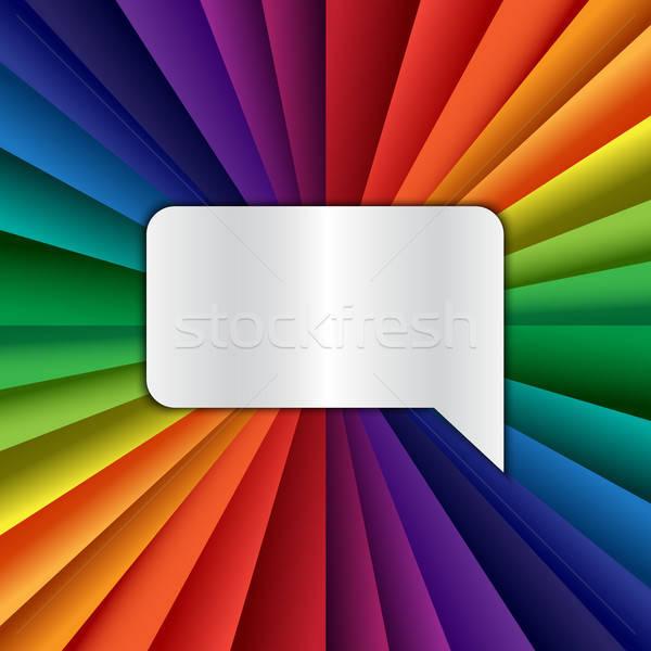 ярко вектора радуга празднования праздник баннер Сток-фото © barsrsind