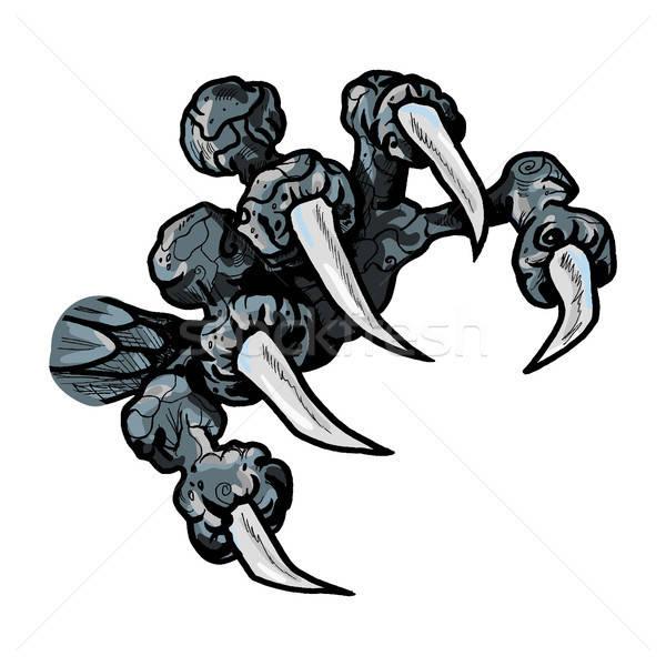 Foto stock: Dragón · monstruo · pata · tatuaje