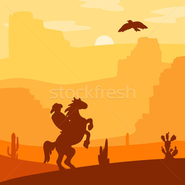 Wild West Landscape Stock photo © barsrsind