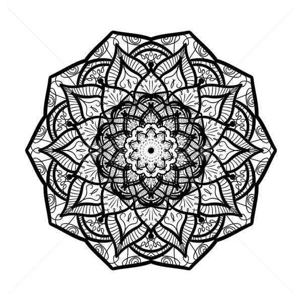 Mandala hat şablon Arapça Hint Stok fotoğraf © barsrsind