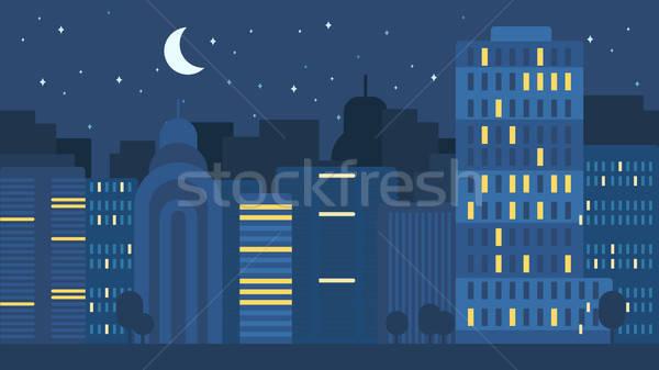 Város élet éjszaka város utca városi Stock fotó © barsrsind