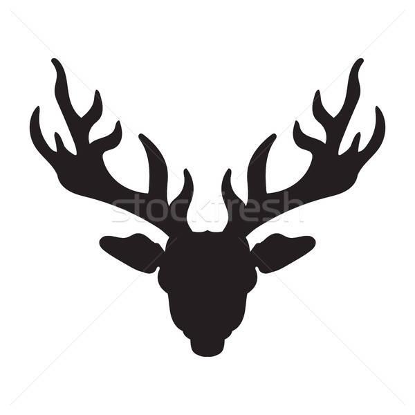 鹿 頭 Tシャツ 入れ墨 印刷 ストックフォト © barsrsind