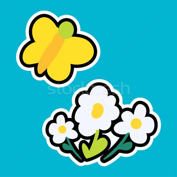 Vektor rajz romantikus szeretet felirat tavasz Stock fotó © barsrsind