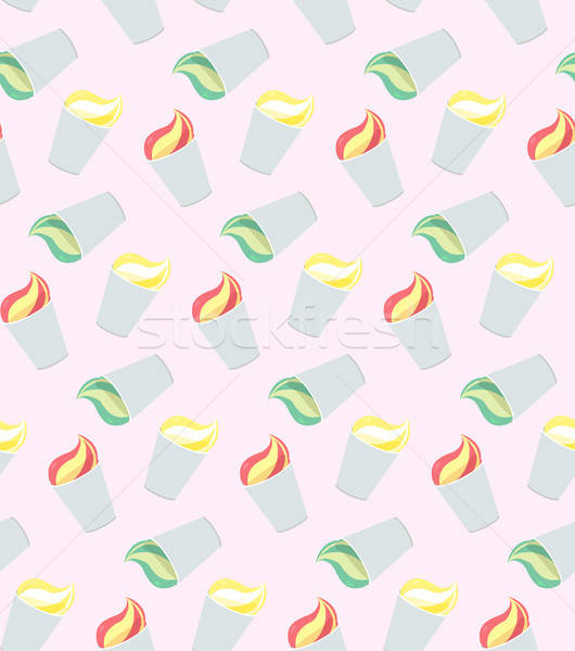 Vector seamless pattern from ice-creams Stock photo © barsrsind