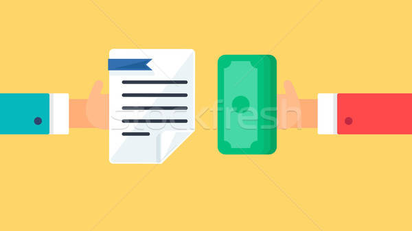 Payment and document symbol Stock photo © barsrsind