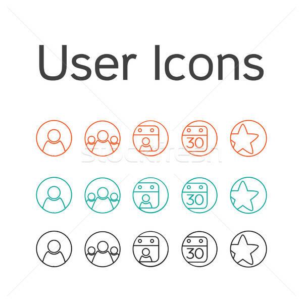 Vector User Icons Stock photo © barsrsind