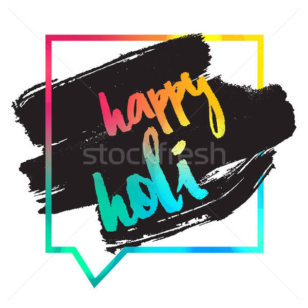 Feliz festival indio colores diseno banner Foto stock © barsrsind