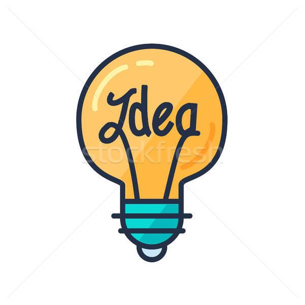 Stock fotó: Nagyszerű · ötlet · villanykörte · forma · adatbázis · képzelet