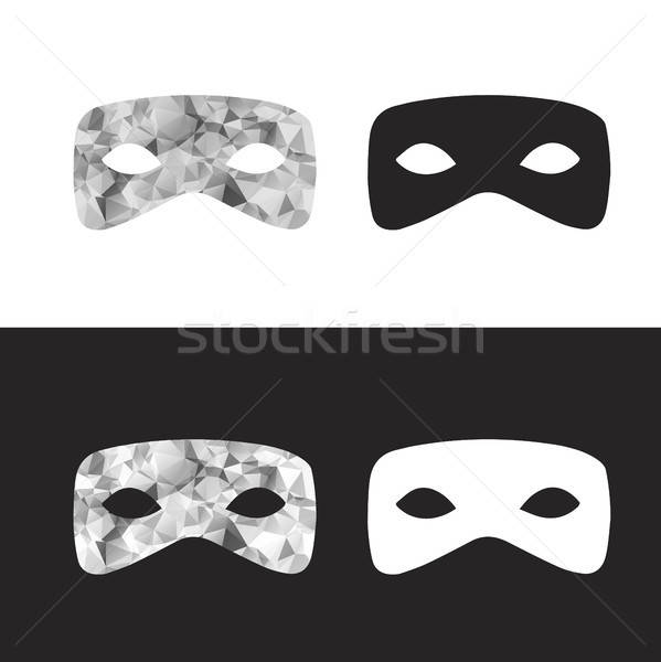 Vector magictriangle  mask, black and white low poly mask Stock photo © barsrsind