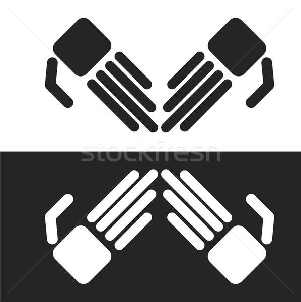Vector simple robot hands Stock photo © barsrsind