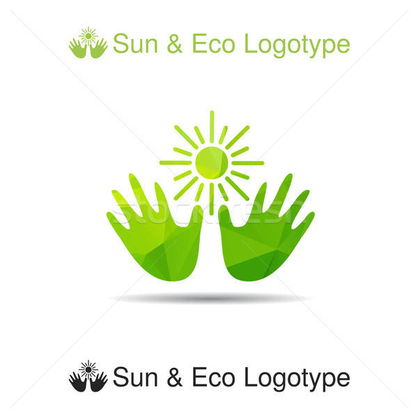 Bio logo, icon and ecology symbol Stock photo © barsrsind