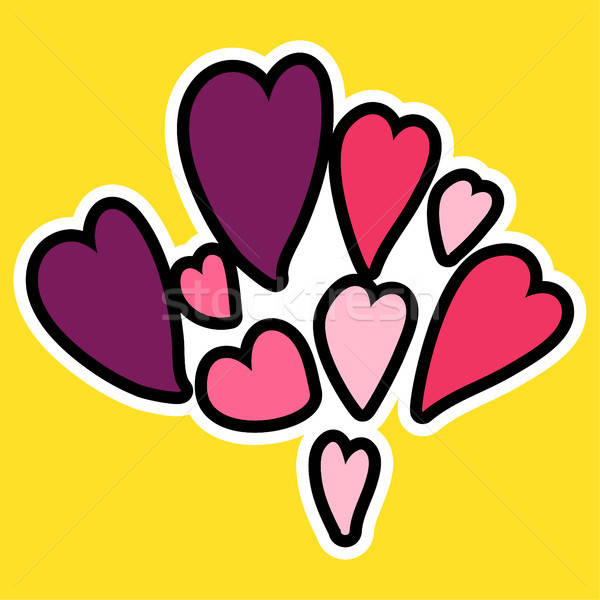 Vektor rajz romantikus szeretet felirat folt Stock fotó © barsrsind