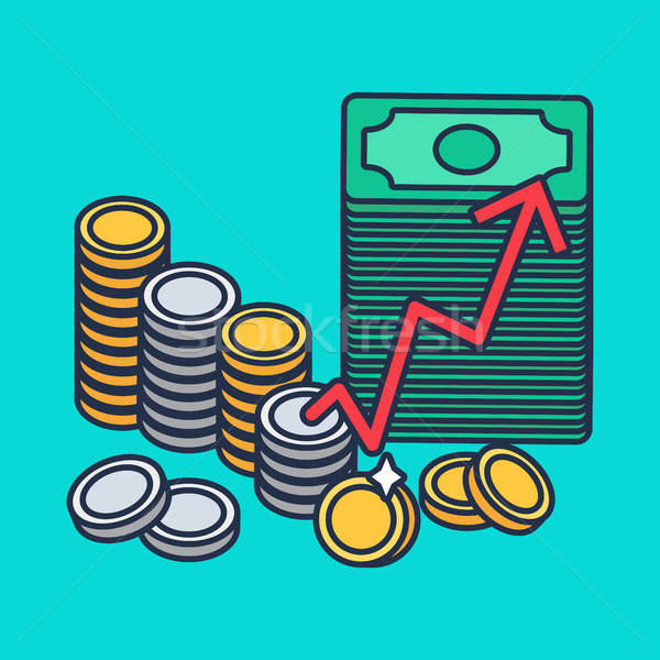 Coins and money Stock photo © barsrsind