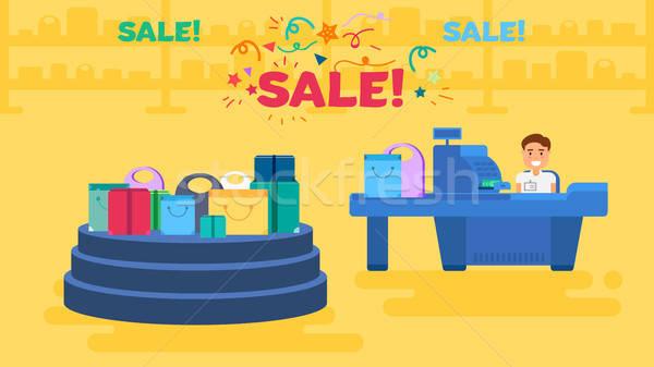 Shopping concept illustration Stock photo © barsrsind