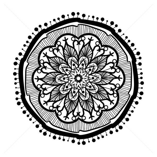 Mandala vonal sablon kézzel rajzolt arab indiai Stock fotó © barsrsind