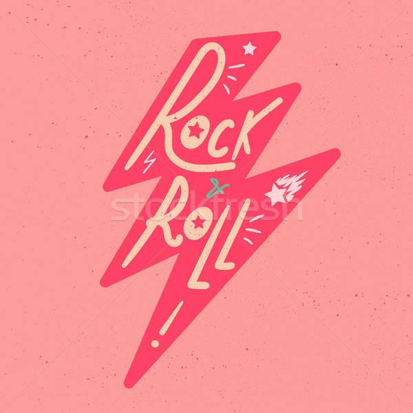 Rock rouler tshirt vignette imprimer tissu Photo stock © barsrsind