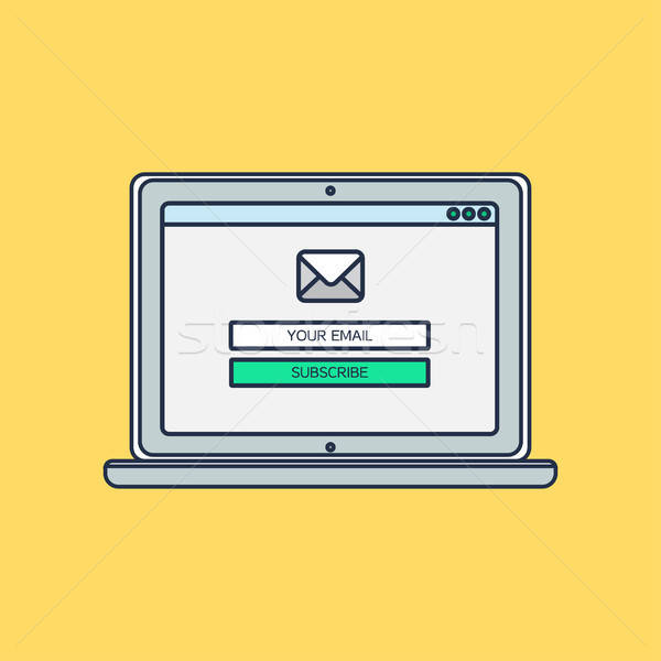 Stock photo: Web Template of Computer Email Form