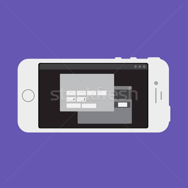 ウェブ テンプレート スマートフォン オンラインショッピング フォーム 電話 ストックフォト © barsrsind